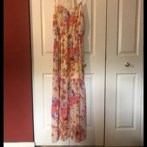 Everly Floral Maxi Dress-L